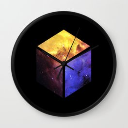 Nebula Cube - Black Wall Clock