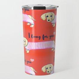 Valentine's Day dachshund dog Travel Mug