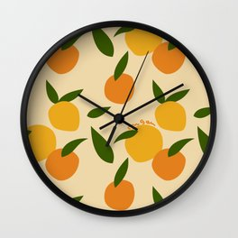 Mangoes in autumn Wall Clock