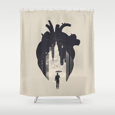 In the Heart of the City Shower Curtain
