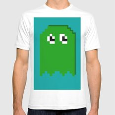 Pac Man Enemy  White SMALL Mens Fitted Tee