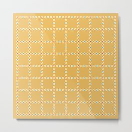 Yellow with Dots Metal Print
