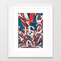 usa Framed Art Prints featuring USA by Danny Ivan