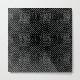 Dark Reptile Skin Metal Print