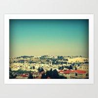 Jerusalem Panorama Art Print