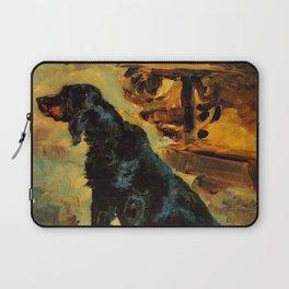 """Henri de Toulouse-Lautrec """"Dun, a Gordon Setter Belonging to Comte Alphonse de Toulouse Lautrec"""" Laptop Sleeve"""