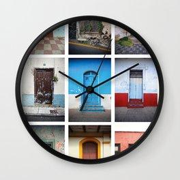 Spanish speaking doors Wall Clock