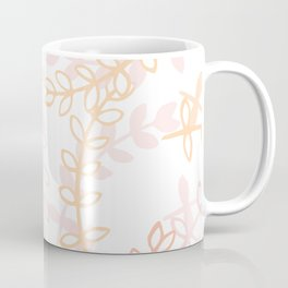 Kay - Blush and Pink Floral Print Coffee Mug