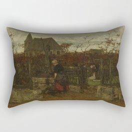 Jacob Maris - A Bleaching Field Rectangular Pillow
