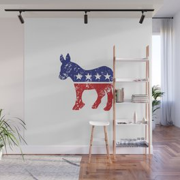 Democrat Original Donkey Distressed Wall Mural