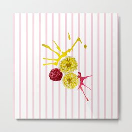 pink and yellow flower bouquet Metal Print