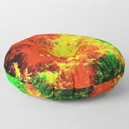 Nebular Fire Floor Pillow