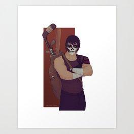 Casey Jones TMNT 2k12 Art Print