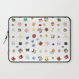 animal crossing pattern Laptop Sleeve