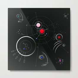 Aldebaran - Astro Dimension Star System Metal Print