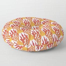 SCORCH pattern [WHITE] Floor Pillow