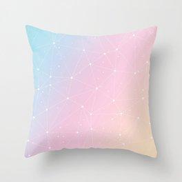 Rainbow Watercolor Astronomy Throw Pillow