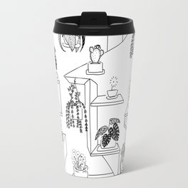 Plant on shelf Travel Mug