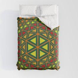 Geometric abstract art Duvet Cover