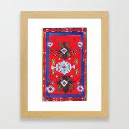 Caucasian rug Framed Art Print