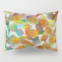 Colorful paint brushes on a white background Pillow Sham