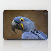uncharted iPad Cases featuring Beauty is an Enchanted Soul - Hyacinth Macaw - Anodorhynchus hyacinthinus by Sharon Mau