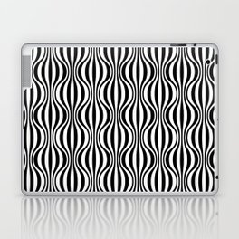 Black & White Wavy Pattern Laptop & iPad Skin