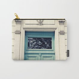 Paris door, pastel blue II Carry-All Pouch