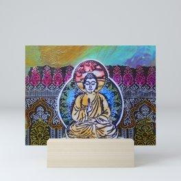 Buddha In The Garden Mini Art Print