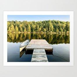 Dock on the Lake Art Print