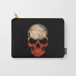 Dark Skull with Flag of Poland Carry-All Pouch
