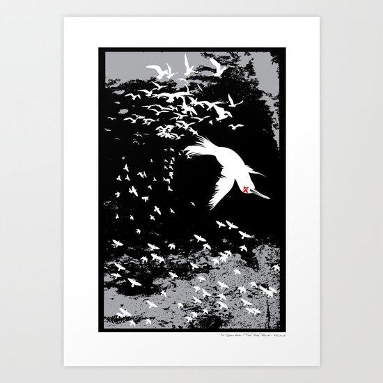 Aflockalypse Wow Art Print