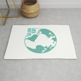 Earth Matters - Earth Day - Watercolor Dots 01 Rug