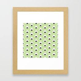 Kawaii Onigiri Rice Balls Framed Art Print
