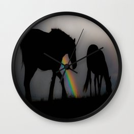 Silhouette of Color Wall Clock