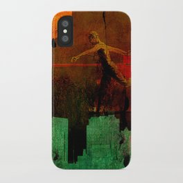 Jump on the green city iPhone Case
