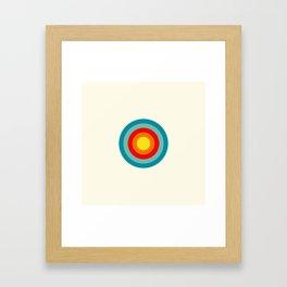 Colored Retro Circle 04 Framed Art Print