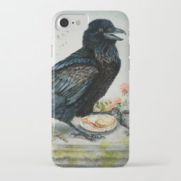 Breakfast With the Raven iPhone Case