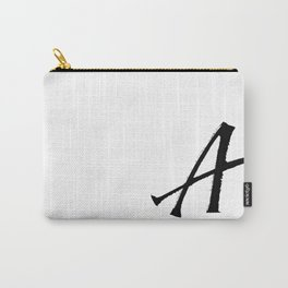 Letter A Ink Monogram Carry-All Pouch