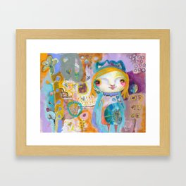Moon Face Framed Art Print