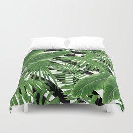 tropical geometric Duvet Cover