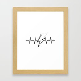 Bowie Heartbeat Framed Art Print