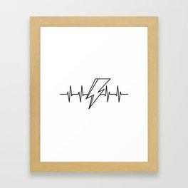 Bowie Heartbeat Framed Art Print