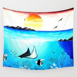 Beautiful Underwater Scene Painting Wall Tapestry