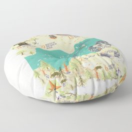 Princess Bride Discovery Map Floor Pillow