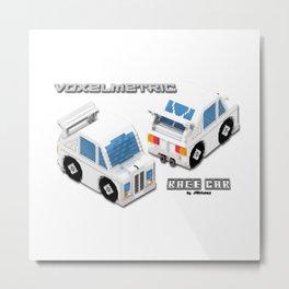 VoxelMetric Race Car Metal Print
