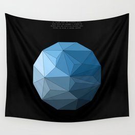 Continuum black Wall Tapestry