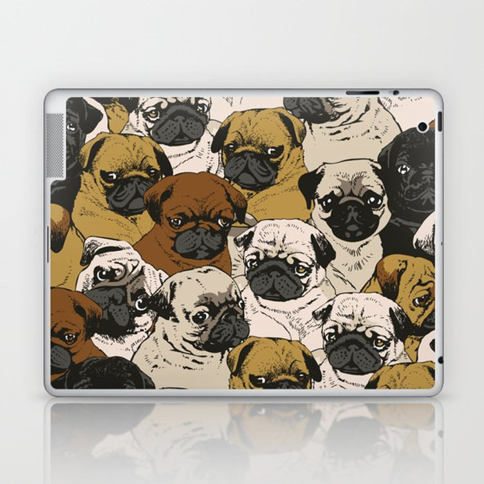 Social Pugs Laptop & iPad Skin