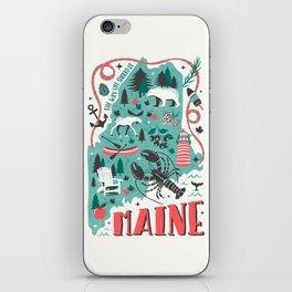 Maine Map iPhone Skin