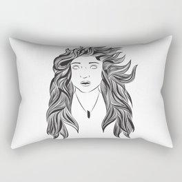 Wind and Hair Rectangular Pillow